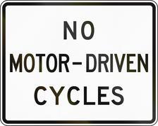 Stock Illustration of No Motor-Driven Cycles