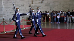 Changing of the Guards at Chiang Kai-Shek Memorial Hall. HD Stock Footage