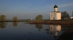 VLADIMIR.RUSSIA - 2013: The Church of the Intercession on the Nerl Stock Footage