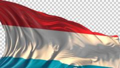 Flag of Luxembourg Stock Footage