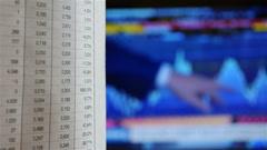 Close-Up Stock Exchange Market Analyze - stock footage
