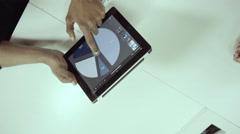 Business people using digital tablet Stock Footage