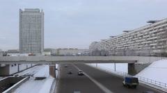 ZELENOGRAD.RUSSIA - 2013: View from the bridge Stock Footage