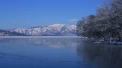 Rimed and snow, Hokkaido, Japan Stock Footage