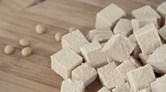 Portion of Tofu (not loopable) - stock footage