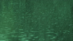 Green rain in pond Stock Footage