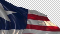 Flag of Liberia Stock Footage