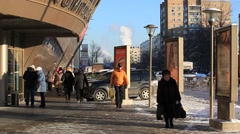 ZHELEZNODOROZHNIY.RUSSIA-2013: Entrance of the mall Stock Footage