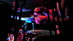 Drummer on Stage Stock Footage