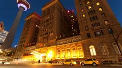 Fairmont Palliser Hotel Time Lapse Stock Footage