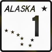 United States State Highway Alaska Stock Illustration