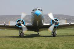Plane engine start - stock photo