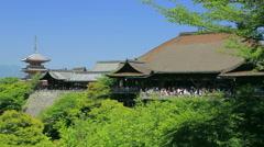 Kiyomizudera temple, Kyoto, Japan Stock Footage