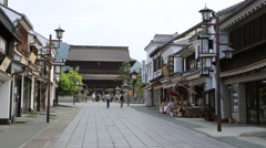 Traditional street, Nagano Prefecture, Japan Stock Footage