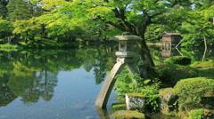 Kenrokuen Garden, Ishikawa Prefecture, Japan Stock Footage