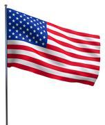 USA American flag waving - stock illustration