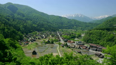 Shirakawa Village, Gifu Prefecture, Japan Stock Footage