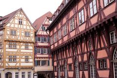 Stock Photo of half-timbered houses in germany