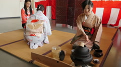 Japanese Tea Ceremony Van Dusen Garden Vancouver BC Canada - stock footage