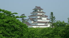 Tsuruga Castle, Fukushima Prefecture, Japan Stock Footage