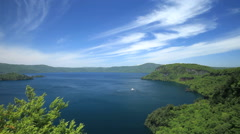 Lake Towada, Aomori Prefecture, Japan Stock Footage