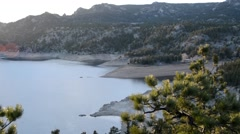 Sunset over a Rocky Mountain Lake in Colorado - stock footage
