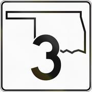 United States Oklahoma State Highway Stock Illustration