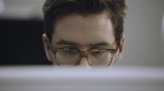 Man using desktop PC Stock Footage