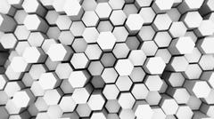 Stock Illustration of Abstract tech background with many white hexagons