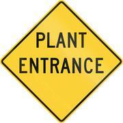 Stock Illustration of Plant Entrance
