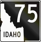 United States State Highway Idaho Stock Illustration