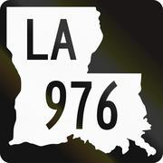 United States State Highway Louisiana Stock Illustration