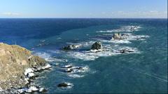 Cape Erimo, Hokkaido, Japan Stock Footage