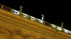 Statue on Capitol Square. Night. Rome, Italy Stock Footage