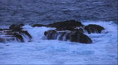 Strong waves at sea at Shakotan Peninsula, Hokkaido, Japan Stock Footage