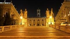 Stairs Cordonata. Rome, Italy. 1280x720 Stock Footage