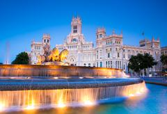 Plaza de Cibeles, Madrid, Spain. - stock photo