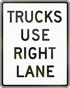 Trucks Use Right Lane Stock Illustration