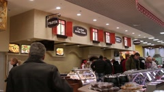 RUSSIA, MOSCOW, 7 MARCH 2015, People shopping at the grocery supermarket Stock Footage