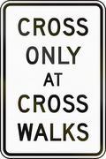 Cross Only At Cross Walks Stock Illustration