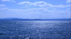 Lake Inawashiro, Fukushima Prefecture, Japan Stock Footage
