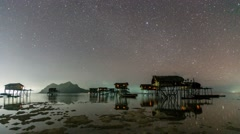 Night at Maiga Island Stock Footage