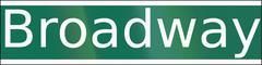 Broadway Street Name Piirros