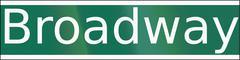 Broadway Street Name Stock Illustration