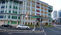 MICA Building - Old Hill Street Police Station building in Singapore Stock Footage