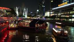 Quay Singapore River in Singapore Stock Footage