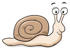 Cartoon snail with snail shell Stock Illustration