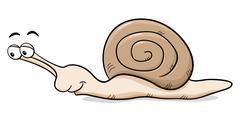 Stock Illustration of cartoon snail with snail shell
