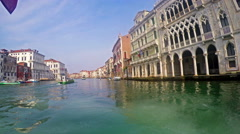 Boat pov to Grande Canal in Venice Stock Footage