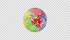 Four colours ball Stock Footage
